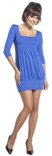 Zeta Ville - Vestido túnica cintura imperio escote cuadrado - para mujer - 954z Azul Real