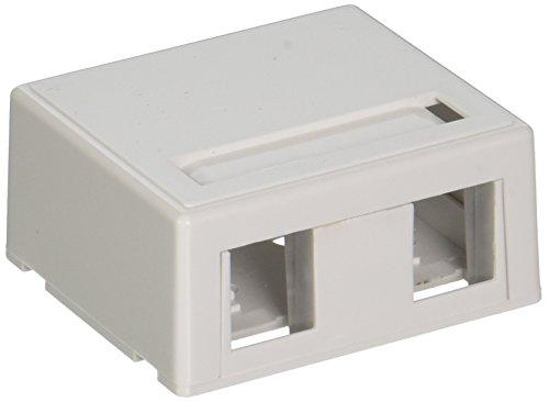 C2G 03833 2-Port Keystone Jack Surface Mount Box, White ()