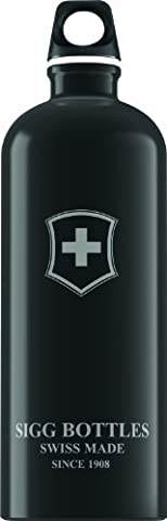 Sigg Swiss Emblem Water Bottle (Black, 1.0-Litre) - Sigg Accessori