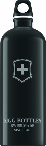 Sigg Swiss Emblem Water Bottle (Black, 1.0-Litre)