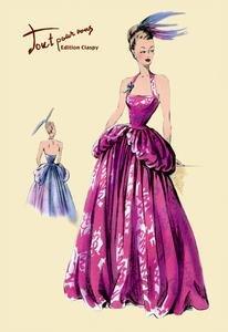 Magenta Evening Gown Framed 20