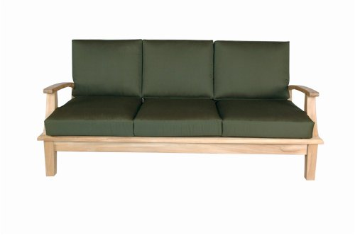 Teak Deep Seating - Anderson Teak Brianna Deep Seating Sofa with Cushion, Navy