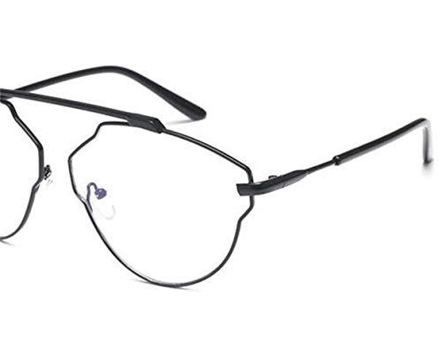 FlowerKui cadre lunettes Lunettes de décoration extérieure yeux protection Black grand de unisexe wrfqrX8x