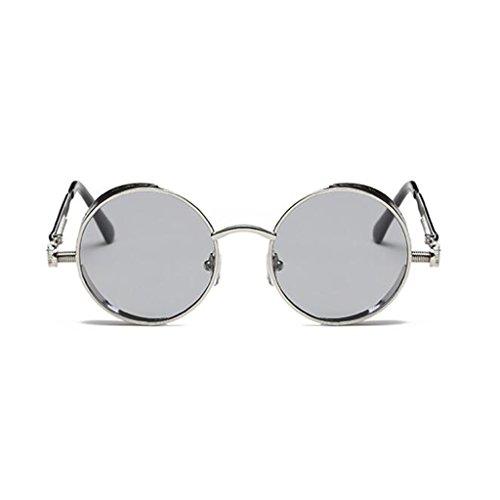 2 HOME De Moda QZ De 2 Playa Vintage Luz Polarizada Personalidad Circular Simple Color Gafas Sol ZHq4wqRa
