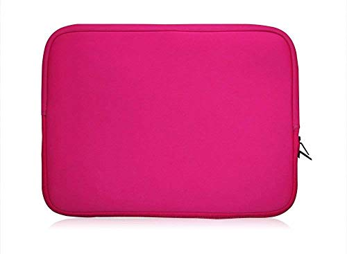 Sweet Tech Pink Neoprene Case Cover Sleeve Suitable for Toshiba Satellite Pro A30 Series 13.3 Inch Laptop (13-14 inch Laptop)