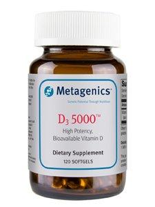 Metagenics, D3 5000, 120 gélules
