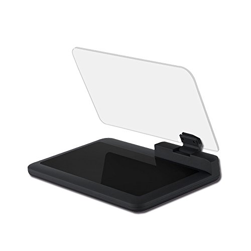 One Film Cell (Head Up Display Holder, Max 6 Inches HD Reflector for Car HUD Cell Phone GPS Navigation Image (Gifts: one Non-slip Mat and one Reflective Film))