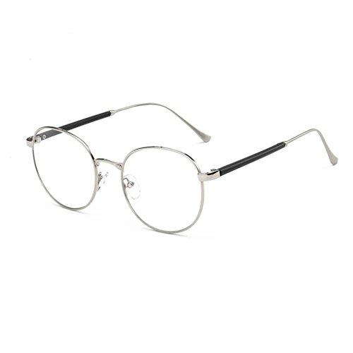 Transparent 20 ordinaire lunettes Mode Vintage Meisijia argent lunettes A optique Objectif Frame rétro 0It7cq