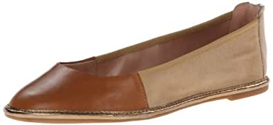 Enzo Angiolini Women's Nation1 Ballet Flat,Light Natural Multi Suede,10.5 M US