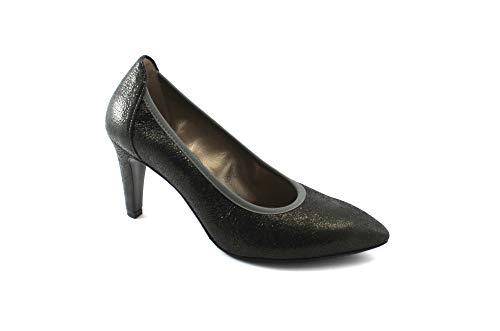 Zehe Grigio Anthrazit Frau D5142 Leder Schuhe Rauch Melluso Stretch Dekolleté qz8IwA