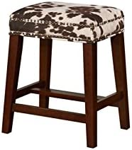 Linon Walt Brown Cow Print Counter Stool