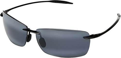 Maui Jim Sunglasses - Lighthouse / Frame: Gloss Black Lens: Polarized Neutral Gray