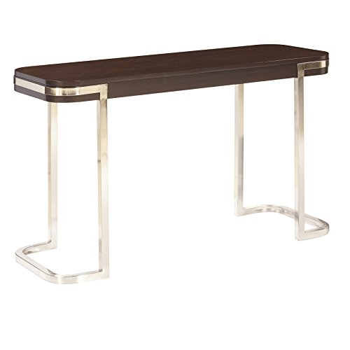 The Amazing Home C102-06 Verona Sofa Console Table, Nickle and (Verona Occasional Table)