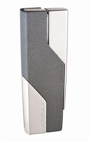 Lotus L1010 Grey Matte and Chrome Velour Torch Flame Lighter