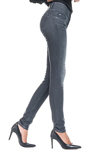 Salsa - Jeans Mystery Push Up gris, coupe slim - Femme