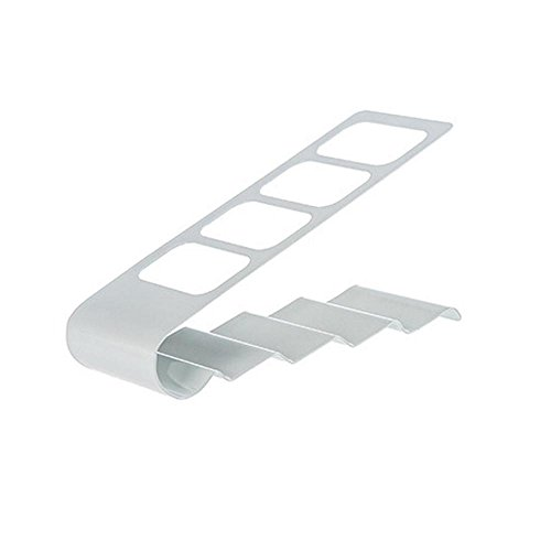 FTXJ 4 Grids TV/DVD/VCR Remote Controls Cradle Stand Holder Storage (White) ()