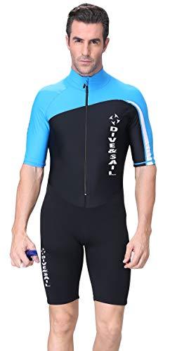 DIVE & SAIL Men's UV Protection Shorty Wetsuits