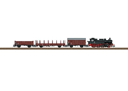 ERA III FREIGHT TRAIN STARTER SET W/DCC -- GERMAN FEDERAL RAILROAD DB 2-6-0T, 3 CARS, MOBILE STATION, C-TRACK OVAL Dcc Starter