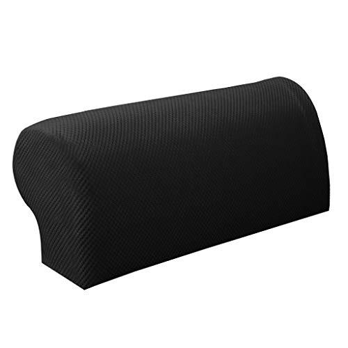 - Fityle 1 Pair Pixel Anti-Slip Elastic Sofa Armrest Covers Armchair Slipcovers Protector Anti-Dirty Sleeve - Black