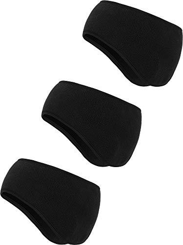 (BBTO 3 Pieces Ear Warmer Headband Winter Headbands Fleece Headband for Men and Women (Color Set 4))