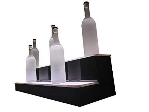- LED Baseline 2 Step Bar Shelf Bottle Glorifier 24