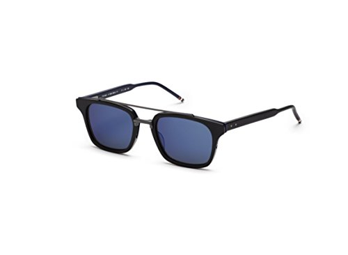 Sunglasses THOM BROWNE TB 803 A-BLK-BLK BlackRWBBlack Iron w/Dark GreyBlue - Thom Browne Sunglasses
