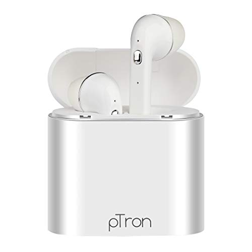 PTron Bassbuds Lite in-Ear True Wireless Bluetooth Headphones (TWS) with Mic – (White)