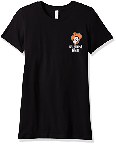 NCAA Oklahoma State Cowboys Women's Double Pattern Scroll Favorite Short sleeve T-Shirt, - State Pattern Oklahoma