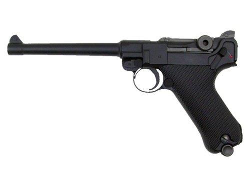 WE P-08 Medium Version Gas Blowback Full Metal - Black Black Gas Pistol