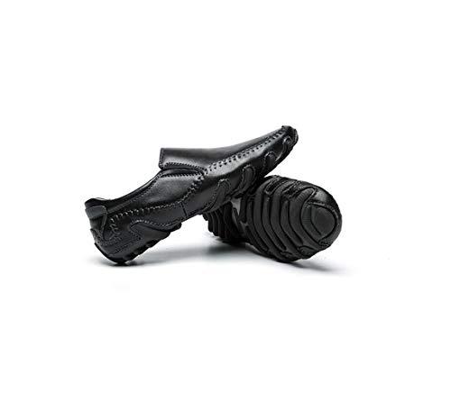 Stivali Pelle Nastro Affari Scarpe Colore Sportivi in Punta A Casual Stagione Uomo Tondo Black Morbido Sandali Tela w1qCnEZ4W