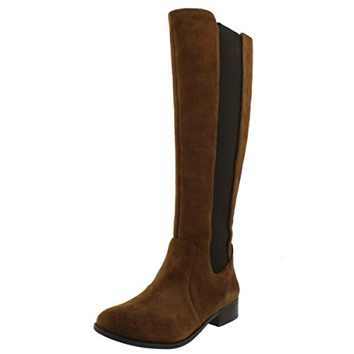 Jessica Simpson Women's Ricel 2 Knee High Leather Boot Brown Size (Suede Leather Wedge Boots)
