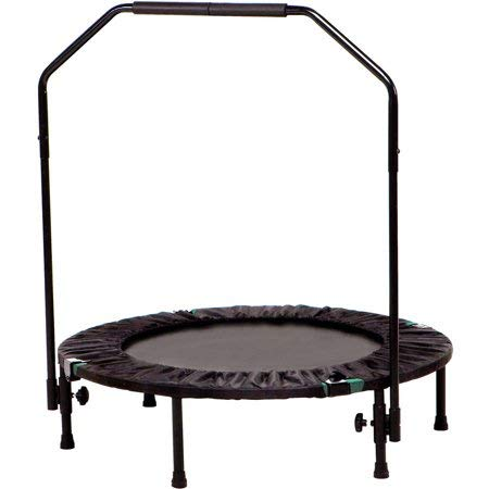 Home-Sport-Trampoline-with-Handle-for-Kids-and-AdultsJumping-Gym-Fitness-RebounderMini-Round-Folding-Cardio-Trainer-with-Handrail-for-Indoor