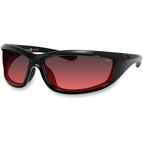 Bobster 4003379 Charger Ansi Z87 Sunglass-Black Frame/Rose Lenses
