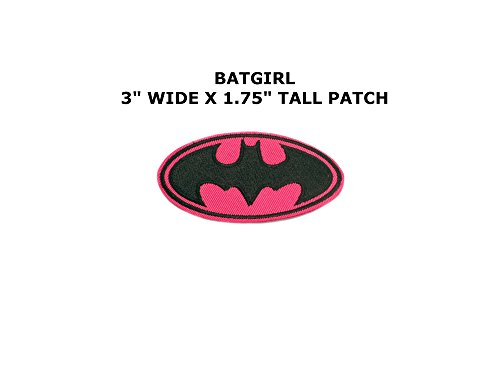 [Athena Superhero DC Batgirl Logo (Batman) Easy Iron or Sew-on Embroidered Cartoon Comics Movie Theme Applique Patch] (Imperial Guard Costume Warhammer 40k)