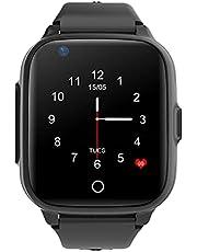 Qlokkie GPS Horloge kind - Smartwatch kinderen - GPS Tracker - 4G - SOS Functie - Spraakberichten en videobellen - Waterdicht - Inclusief simkaart - Kiddo 15 - Zwart