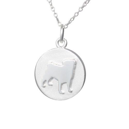 Mochi & Jolie Silver Pendant Necklace, Pug