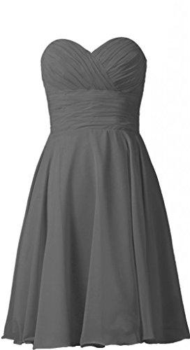 Sweetheart Prom Dark E277LF TalinaDress Bridesmaid Chiffon Womens Short Gray Dress Gown RxHWnqtf7W