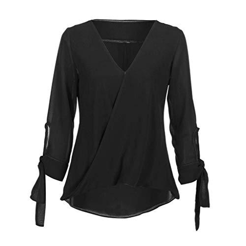 Legere Elgante Et Manches V Tunique Mode Femme Unicolore 3 Schwarz Chemisiers Cou 4 Adelina Shirts Haut Blouse Baggy Loisir pP4Fq6wp