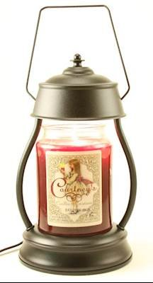 Hurricane Black Candle Warmer and Courtneys 26 oz Candle - Opium by Courtney's Candles