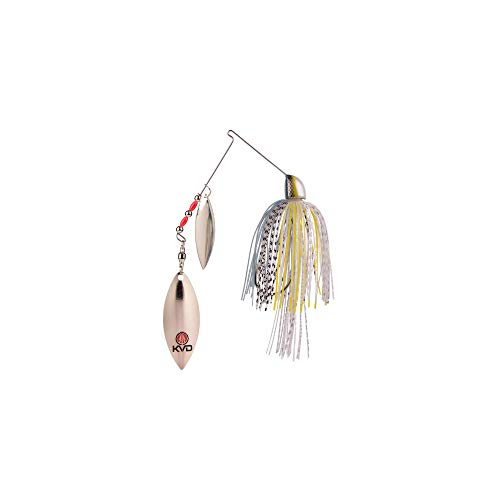 Strike King FSB38CW-514S Finesse KVD Spinnerbait, Chrome Sexy Shad