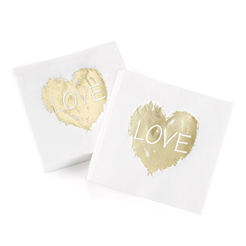 Hortense B. Hewitt 50 Count Brush of Love Napkins, (Love Beverage Napkins)