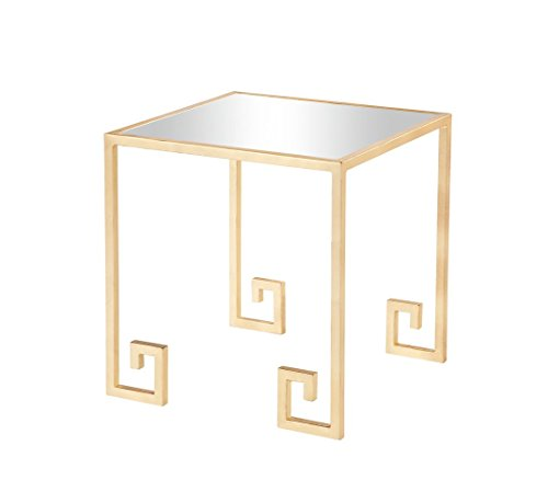 Burnham Home 16043 Shiloh Side Table, Gold Leaf