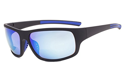 - Eyekepper Bifocal Sunglasses +2.50 Strength Reading Sunglasses (Blue Mirror)