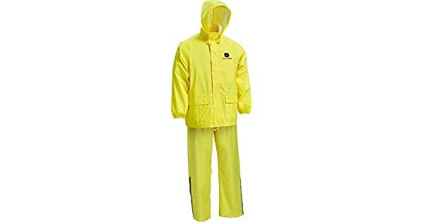 Amazon.com: John Deere JD44510 traje de lluvia de alta ...