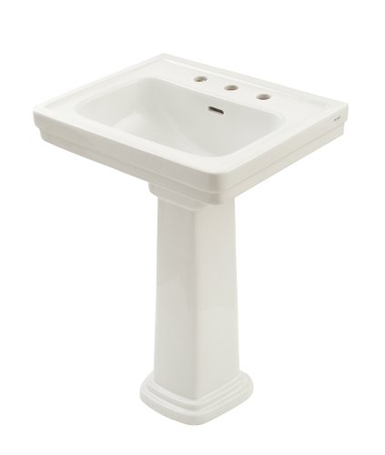 TOTO LPT532.8N#11 Promenade Lavatory and Pedestal with 8-Inch Centers, Colonial White, Deep -