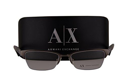 Armani Exchange AX1004 Eyeglasses 52-17-135 Satin Gunmetal w/Demo Clear Lens 6017 AX - Buy Armani Exchange