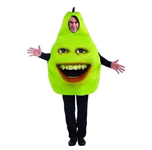 Forum Annoying Orange Pear Adult Costume, Green, One -