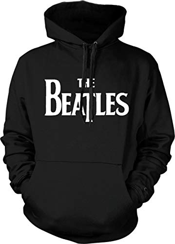The Beatles Hoodie Official Classic Rock Band Logo Sweatshirt Black