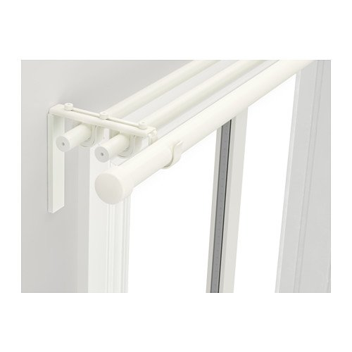 Ikea Triple curtain rod combination, white 82 5/8-151 5/8