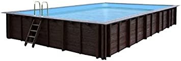 Jardín Piscina Pearl of South, piscina a y 96188, madera, rectangular piscina, 8,34X 4,92X 1,38m, Bomba, Pool Escalera, Skimmer